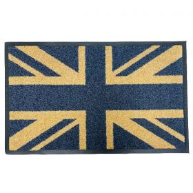 Coir And Black Union Jack Mat
