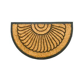 Half Moon Rubber Door Mat 75 45 Shell