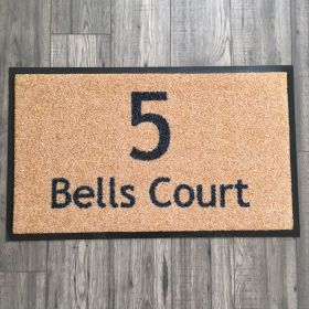 Have your House Number and Street Name / House Name printed onto our Personalized Outdoor Door Mat