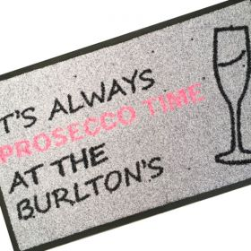 Personalised Prosecco Doormat Artwork