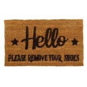 Hello Please Remove Your Shoes Door Mat - Biodegradable + Eco Friendly