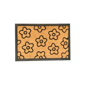 Rubber Coir Doormat 6040 Flower