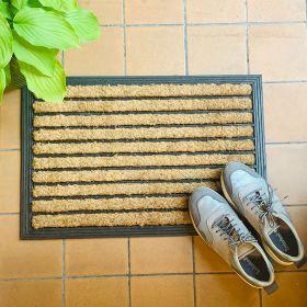 Rubber Coir Doormat 6040 Stripe Lifestyle