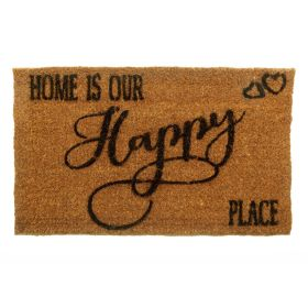 Home is Our Happy Place Door Mat - Biodegradable + Eco Friendly