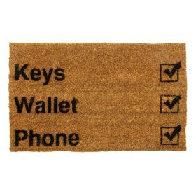 Keys Wallet Phone Door Mat - Biodegradable + Eco Friendly